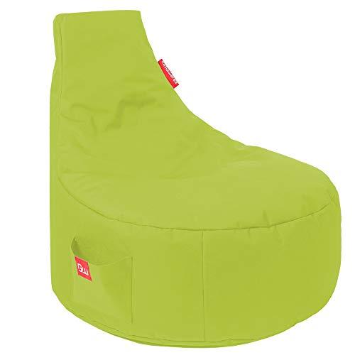 GAMEWAREZ Alpha Green Gaming Sitzsack, Made in Germany, für PS4, XBOX360, XboxOne, Nintendo DS, Nintendo Switch, Smartphone. Grün mit Tasche