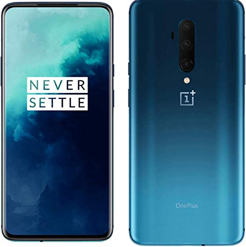 OnePlus 7T Pro Smartphone Haze Blue | 8 GB RAM + 256 GB Speicher | 16,9 cm AMOLED Display 90Hz Screen | Triple Kamera + Pop-up Kamera | Warp Charge 30