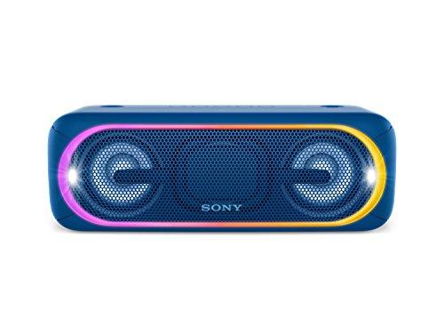 Sony SRS-XB40 Tragbarer kabelloser Lautsprecher (Bluetooth, NFC, wasserabweisend, 24 Stunden Akkulaufzeit) blau