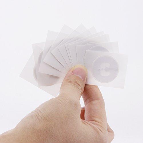 Timeskey NFC 50 x NFC Tags | NXP Chip NTAG216 | 888 Byte Speicherkapazit?t |Selbstklebende Runde und Transparente Etiketten | NFC 216 Sticker Kompatibel Mit Android Smartphone Apps