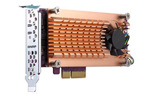 Qnap Dual M.2 22110/2280 SATA SSD Erweiterungskarte (PCIe Gen2 X 2), Low-Profile Bracket vorinstalliert, Low-Profile Flat und Full Height sind gebündelt PCIe Gen2x2, M.2 SATA SSD X 2