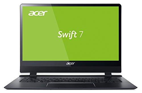 Acer Swift 7 (SF714-51T-M97L) 35,6 cm (14 Zoll Full-HD IPS Multi-Touch) Ultrabook (Intel Core i7-7Y75, 8 GB RAM, 256 GB SSD, Intel UHD, Win 10 Pro) schwarz