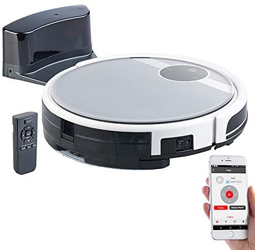 Sichler Haushaltsgeräte WLAN Staubsaugroboter: WLAN-Staubsauger-Roboter mit Bürst- & Wischfunktion, für Amazon Alexa (Staub und Wisch Roboter)