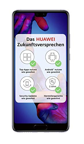 Huawei P20 Smartphone Bundle (14,7 cm (5,8 Zoll), 128GB interner Speicher, 4GB RAM, 20 MP Plus 12 MP Leica Dual Kamera, Android 8.1, EMUI 8.1) Schwarz [Exklusiv bei Amazon] - Deutsche Version