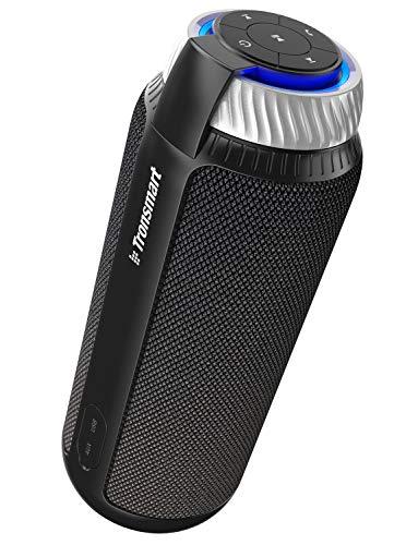 Tronsmart T6 Bluetooth Lautsprecher mit Dual Treiber Starkem Bass, 25W 360° Surround Sound Kabelloser Tragbare Lautsprecher, 15h Spielzeit mit Eingebauten Mikrofon Musikbox für Mobiltelefon - Schwarz