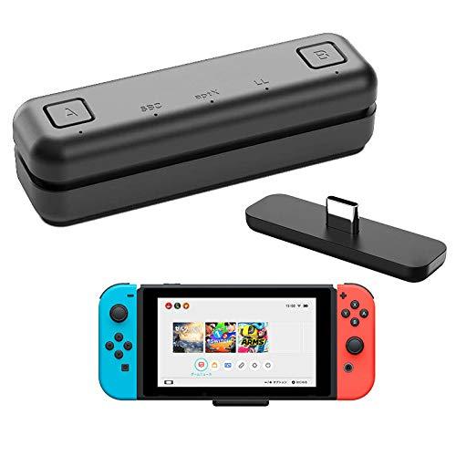 WeChip Route Air Bluetooth-Audio-USB-Transceiver-Adapter für Switch / Switch Lite / PS4 / PC, 5 mm, verzögerungsfrei, Plug-and-Play