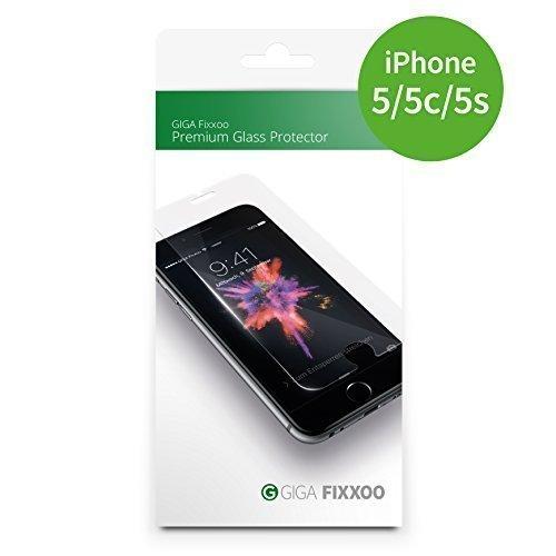Fixxoo Panzerglas-Folie geeignet für iPhone 5, 5s, 5c, SE, Premium Glas-Schutz, iPhone Protector aus Hartglas mit Installationshilfe, perfekte Passform und nahezu unsichtbar