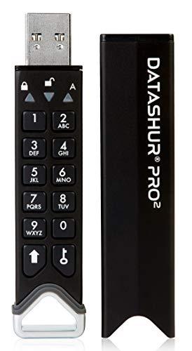 iStorage datAshur Pro2 Stick 512GB Schwarz IS-FL-DP2-256-512 USB 3.2 Gen 1