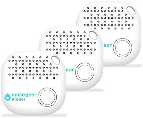 musegear Schlüsselfinder mit Bluetooth App aus Deutschland I Maximaler Datenschutz I weiß 3er Pack I Schlüssel Finden