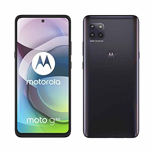 MOTOROLA moto g 5G (6,7'-Display, 48-MP-Kamera, 4/64 GB, 5000 mAh, Dual-SIM, Android 10) Schwarz, inkl. Schutzcover + KFZ-Adapter [Exklusiv bei Amazon]