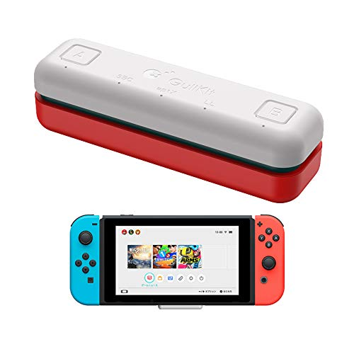 GuliKit Route Air Bluetooth Audio USB-Transceiver-Adapter für Nintendo Switch/Switch Lite / PS4 / PC, 5 mm, verzögerungsfrei, Plug & Play, Weiß + Rot