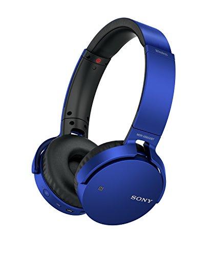 Sony MDR-XB650BT kabelloser Extra-Bass Kopfhörer (Bluetooth, NFC, weiche On-Ear Ohrpolster, hoher Tragekomfort, gute Schallisolierung, Headset mit Mikrofon für Telefon & PC/Laptop) rot