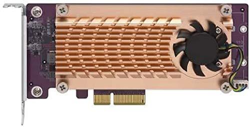 Qnap Dual M.2 22110/2280 PCIe SSD Expansion Card (PCIe Gen2 x4), Low-Profile Bracket Pre-Loaded, Low-Prof