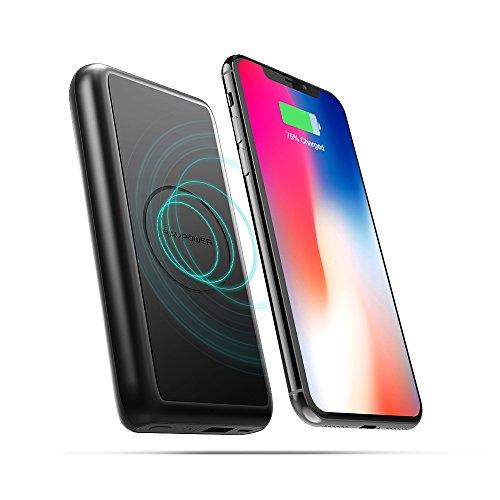 Wireless QI Powerbank RAVPower 10000mAh Schnell Kabelloses Aufladen Ladegerät für iPhone XS, XS Max, XR, X, iPhone 8 / 8 Plus, Induktive Powerbank für Galaxy S9, S8, Note 8 und viele mehr
