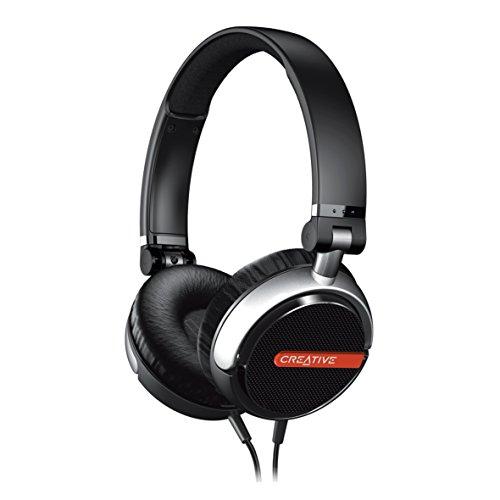 Creative Flex - Ultraleichter Kopfhörer mit satten Bässen und klarer Stimmwiedergabe, schwarz