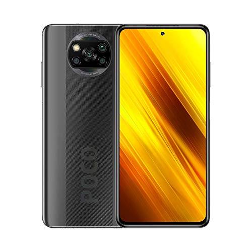 POCO X3 NFC - Smartphone 6 + 64 GB, 6,67 Zoll FHD+ Punch-hole Display, Snapdragon 732G, 64 MP AI Quad-Kamera, 5.160 mAh, Shadow Gray (Offizielle Version + 2 Jahre Garantie)