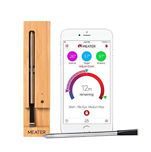 MEATER 10m Komplett Kabelloses Smart-Fleischthermometer für Ofen Grill Küche BBQ Smoker Rotisserie mit Bluetooth und WiFi Digitale Anschlussmöglichkeiten