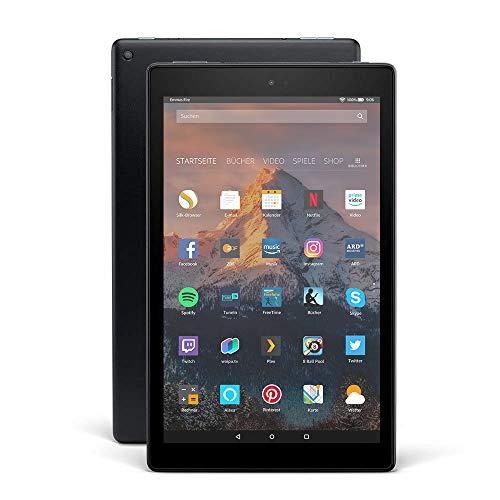 Fire HD 10-Tablet, 1080p Full HD-Display, 32 GB, Schwarz, Mit Werbung (vorherige Generation – 7.)