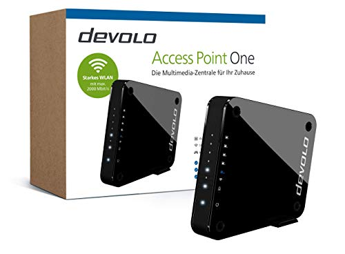 devolo Access Point One Multimedia Allrounder 'WLAN Monster' (WLAN AC bis 1733 Mbit/s, 1x Highspeed Gigabit-Port, 4X Ethernet Ports), schwarz