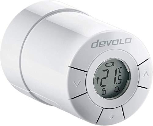 devolo Smart Home, Home Control Heizkörperthermostat, Z-Wave Heizungssteuerung, Funk Thermostat per Smart Home App, Hausautomation, Haussteuerung, weiß