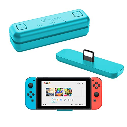 WeChip GuliKit Route Air Bluetooth Audio USB-Transceiver-Adapter für Nintendo Switch/Switch Lite / PS4 / PC, 5 mm, verzögerungsfrei, Plug & Play, Blau