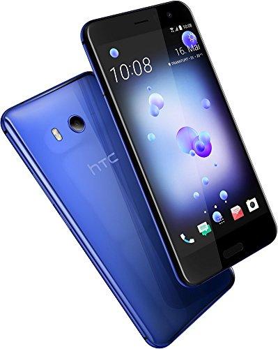 HTC U11 Smartphone (13,97cm (5,5 Zoll), 16 MP Frontkamera, 64GB Speicher, Android) Sapphire Blue, mit Alexa-Integration