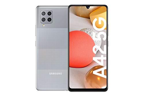 Samsung Galaxy A42 5G Android Smartphone ohne Vertrag, 4 Kameras, großer 5.000 mAh Akku, 6,6 Zoll Super AMOLED-Display, 128 GB/4 GB RAM, 5G Datenverbindung, Handy in Grau, deutsche Version