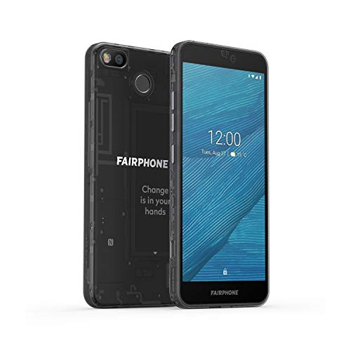 Fairphone 3 Dual SIM 64GB, Black - Modulares Smartphone mit reparierbarem Design 001-0000-000100-0001