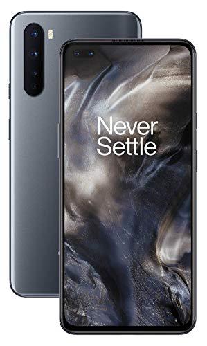 OnePlus NORD (5G) 8GB RAM 128GB Smartphone ohne Vertrag, Quad Kamera, Dual SIM. Jetzt mit Alexa Built-in - 2 Jahre Garantie - Onyx Grau