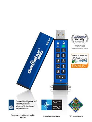 iStorage IS-FL-DA3-256-32 32GB datAshur PRO 256-bit USB 3.0 USB-Stick mit Hardwareverschlüsselung blue