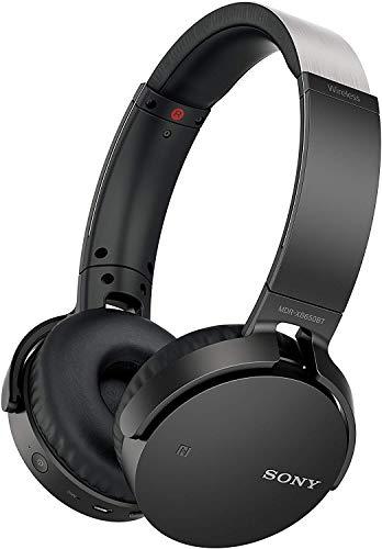 Sony MDR-XB650BT kabelloser Extra-Bass Kopfhörer (Bluetooth, NFC, weiche On-Ear Ohrpolster, hohe Tragekomfort, gute Schallisolierung, Headset mit Mikrofon für Telefon & PC/Laptop) schwarz