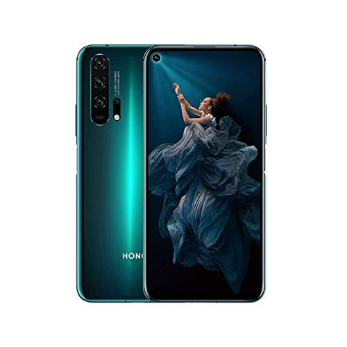 Honor 20 Pro Smartphone 8 GB RAM 256 GB ROM Kirin 980 6,26 Zoll FHD + 48 + 16 + 8 + 2 MP Kameras unterstützen NFC Android 9.0 (Dual Nano-SIM) + Glaskopfhörer Global Version Phantom Blue