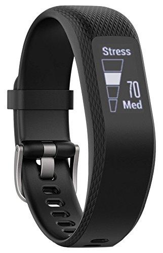 Garmin vívosmart 3 Fitness-Tracker, 24/7 Herzfrequenzmessung am Handgelenk, Smart Notifications, zahlreiche Fitness-Funktionen, Tagesziele, OLED Touchdisplay, schwarz, S/M