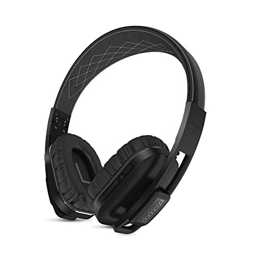 dodocool Kabellos Kopfhörer, Over-Ear Headphone mit Mikrofon, Aktiver Rauschunterdrückung, Hi-Res, 14 Stunden Spielzeit, aptX Low Latency, 3,5 mm Klinkenstecker für Smartphone Tablet PC und Mehr