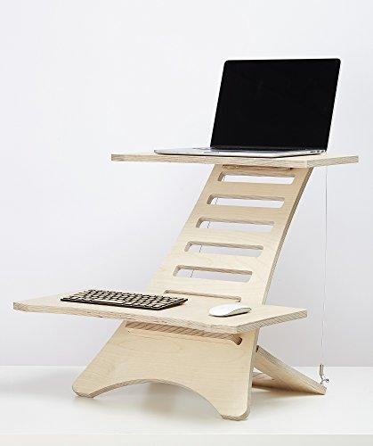 humbleworks stan1.5| höhenverstellbar Stehpult Made bei Out Premium Sperrholz |sit-stand Schreibtisch geeignet für Laptops mit Bildschirmen von bis zu 43,2cm | breitere Ablagen für mehr Platz und Komfort.