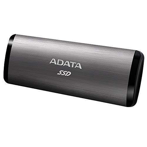 ADATA SE760 256 GB portable external SSD, grau, USB-C 3.2 Gen 2