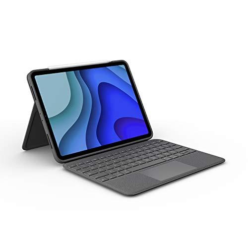 Logitech Folio Touch iPad Hülle Tastatur, Trackpad und Smart Connector für 11 Zoll iPad Pro (Modell: A1980, A2013, A1934, A1979, A2228, A2068, A2230, A2231) UK QWERTY-Layout Grafit