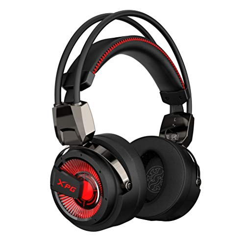 XPG Precog Gaming-Headset mit Mikrofon Hi-Fidelity Dual Treiber 7.1 Virtual Surround Sound (XPG Precog), Einheitsgröße
