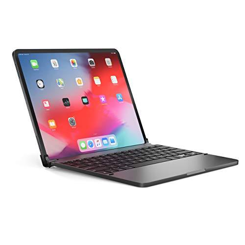 BRYDGE 12.9 Pro, Hochwertige Bluetooth Tastatur aus Aluminium, deutsches Layout QWERTZ, für das iPad Pro 12.9 (2018 & 2020), inklusive magnetischem iPad Cover, space grau