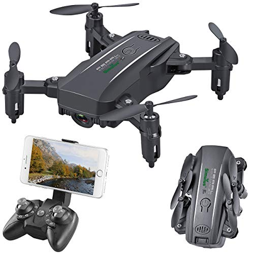 Simulus Drone: Faltbarer FPV-Mini-Quadrocopter, Full HD, WLAN, App, 5-MP-Sensor, 50 m (FPV Drohne)