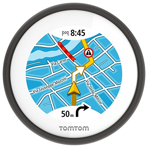 TomTom Vio Motorroller-Navigation (6,1 cm (2,4 Zoll) Display, Europa Karten, Radarkameras auf Wunsch, Anruferanzeige)