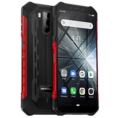 Ulefone Armor X3 Outdoor Handy 32GB Speicher, 5,5 Zoll, 5000mAh Akku, Android 9.0, IP68 Smartphone Wasserdicht Stoßfest Staubdicht, Kompass GPS WiFi Face ID - Schwarz