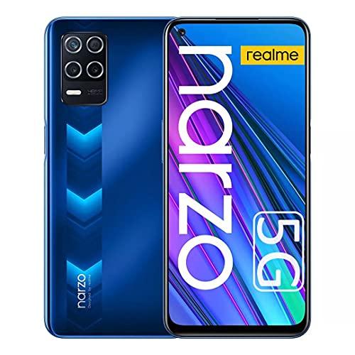 Realme Narzo 30 5G Smartphone ohne Vertrag, 128 GB, 48MP AI Triple-Kamera, Android 11, 6.5' 90Hz Flüssiger Bildschirm, 4 GB Rom, Dual Sim + Micro SDErweiterbar 1 TB (EU-Version)