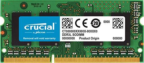 Crucial CT4G3S186DJM 4GB Speicher für Mac (DDR3/DDR3L, 1866 MT/s, PC3-14900, SODIMM, 204-Pin)