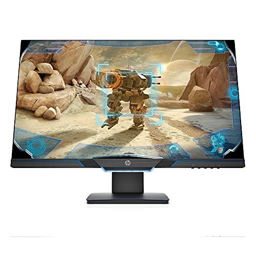 HP 27mx Monitor Gaming Display (27 Zoll Display, Full HD, 144Hz, AMD FreeSync Premium, DisplayPort, HDMI, 1ms Reaktionszeit, höhenverstellbar) Schwarz