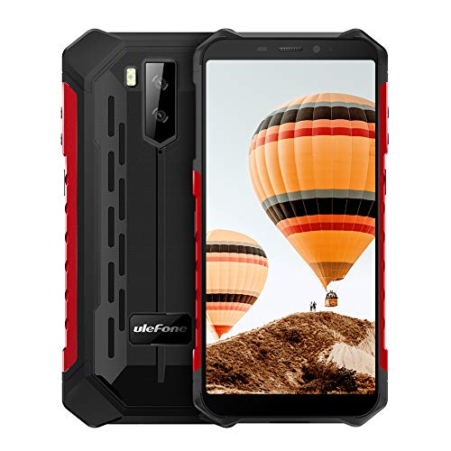 Ulefone Armor X3 ip68 Robustes Smartphone, wasserdichtes Smartphone Android 9.0 Telefon Superbattery Handy 5,5 Zoll HD + 2 GB 32 GB Telefon - Rot