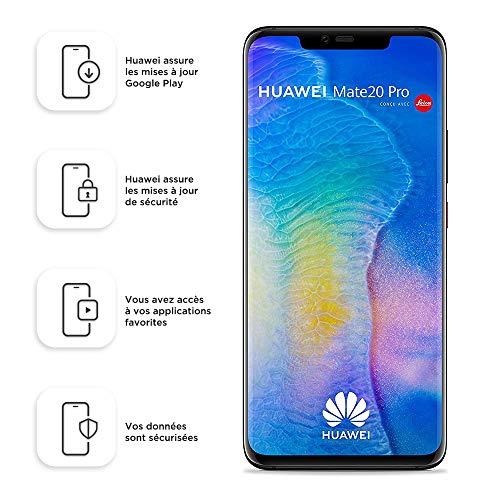 Huawei Mate 20 Pro 128GB Handy, Android 9.0 (Pie), Dual SIM, schwarz (West European Version)