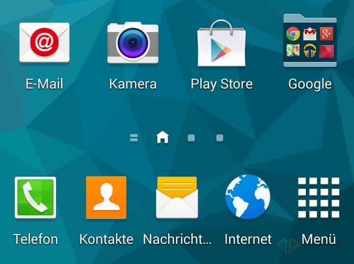 Samsung Galaxy S5 Homescreen