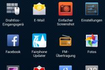 Fairphone Screenshot UI