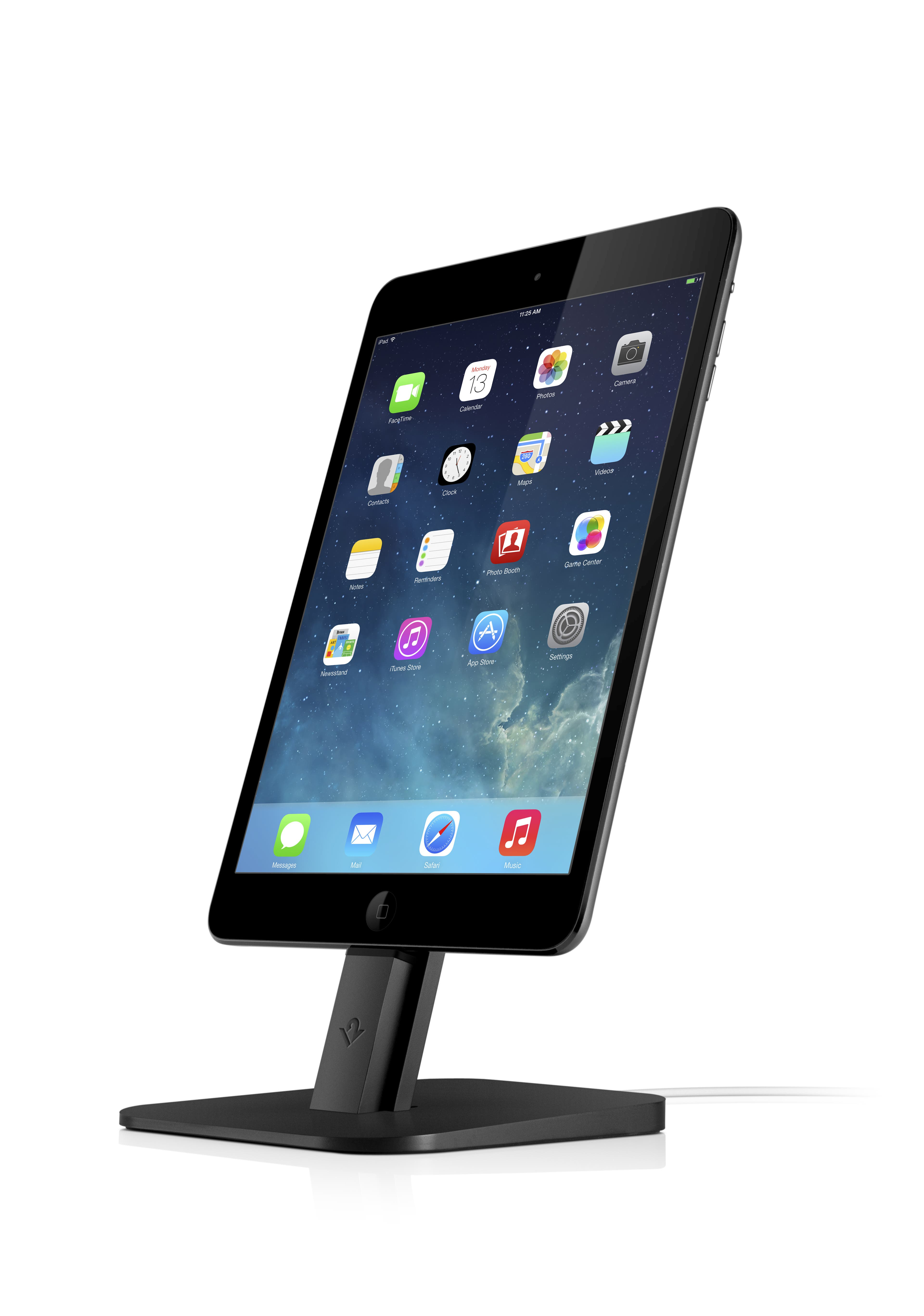 iPad mini im HiRise Black-Dock von twelve south.